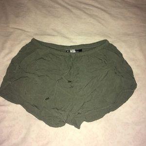 H&M olive shorts (size 8, fits like 4/6)